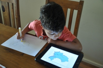 Drawing the Yangtze River